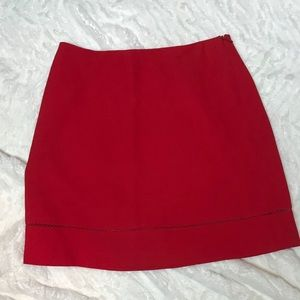 Bebe Red Mini Skirt - Size 2 Hidden Side Zipper